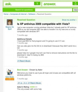 is_xp_antivirus2009_compatible_with_vista